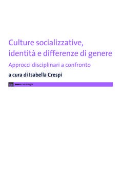 Culture socializzative, identità e differenze di genere
