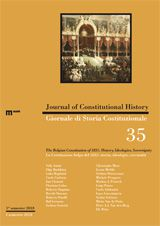 Journal of Constitutional History / Giornale di Storia Costituzionale n. 35, 1 / 2018