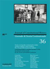 Journal of Constitutional History / Giornale di Storia Costituzionale n. 36, 2 / 2018