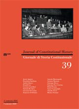 Journal of Constitutional History / Giornale di Storia Costituzionale n. 39, 1/2020